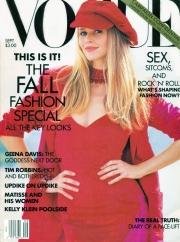 Vogue US September 1992 Cover Claudia Schiffer