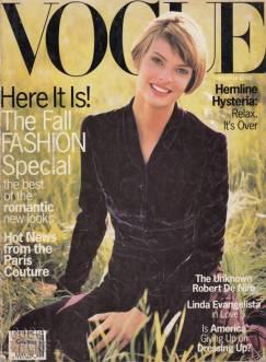 Vogue US September 1993 Cover Linda Evangelista