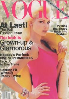 Vogue US September 1994 Cover Nadja Auermann