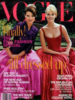 Vogue US September 1995 Cover Amber Valletta & Shalom Harlow