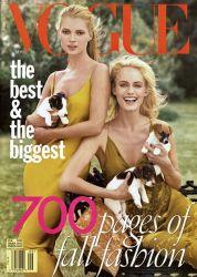 Vogue US September 1996 Cover Kate Moss & Amber Valletta