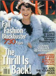 Vogue US September 1997 Cover Linda Evangelista