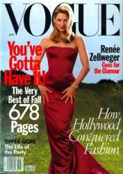 Vogue US September 1998 Cover Renee Zellweger