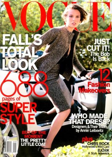 Vogue US September 2000 Cover Bridget Hall