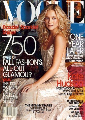 Vogue US September 2002 Cover Kate Hudson