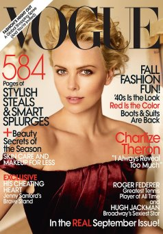 Vogue US September 2009 Cover Charlize Theron