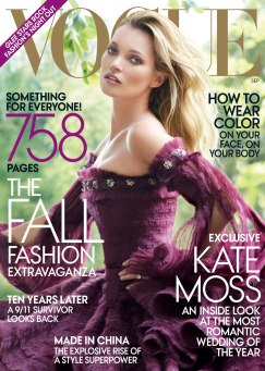 Vogue US September 2011 Cover Kate Moss