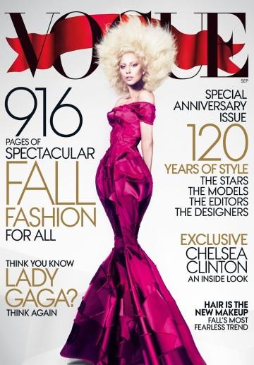 Vogue US September 2012 Cover Lady Gaga