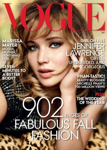 Vogue US September 2013 Cover Jennifer Lawrence