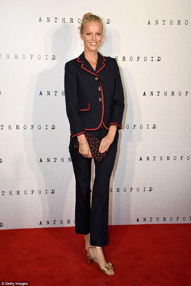 Eva Herzigova in Gucci Pre-Fall 2016