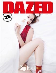 Gigi Hadid X Dazed Magazine 25th Anniversary Issue Cover -2016.9.13-
