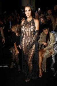 Balmain Spring 2017 Runway Show— Kim Kardashian -2016.9.29-