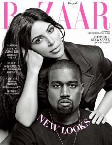 Kim Kardashian & Kanye West Harper's Bazaar Taiwan September 2016 Cover -2016.8.31-