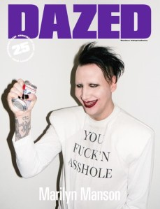 Marilyn Manson X Dazed 25th Anniverary Issue Cover -2016.9.20-