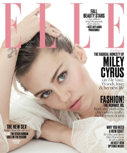Miley Cyrus X ELLE US October 2016 Cover -2016.9.13-