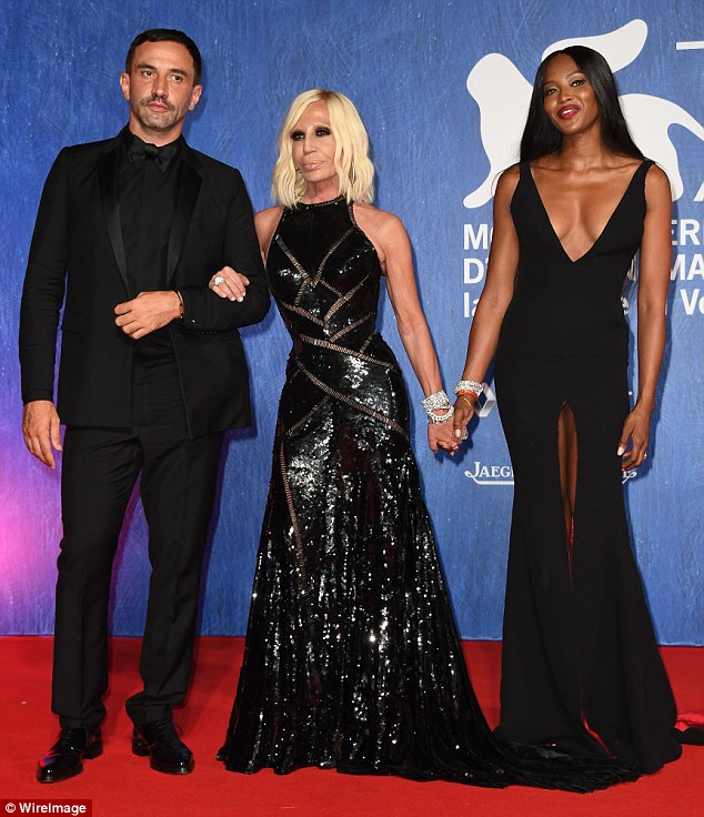 Riccardo Tisci & Donatella Versace & Naomi Campbell