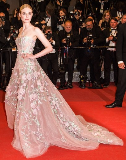 Elle Fanning in Zuhair Murad Spring 2016 Couture