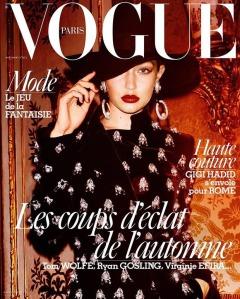 Gigi Hadid X Vogue Paris November 2016 Cover -2016.10.17-