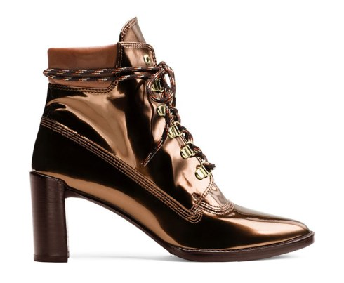 The Gigi Boot in Glass Leather Copper