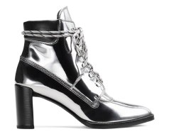 The Gigi Boot in Specchio Leather Iron Gray
