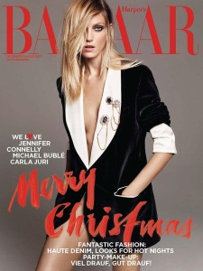 Anja Rubik X Harper's Bazaar Germany Dec 2016/Jan 2017 -2016.11.9-