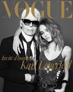 Karl Lagerfeld & Lily Rose Depp X Vogue Paris Dec 2016/Jan 2017 -2016.11.26-