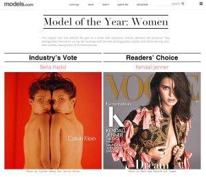 2016 Models of the Year by models.com -2016.12.22-