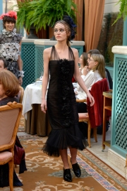 Lily-Rose Depp walks the Chanel Métiers d'Art show at the Ritz
