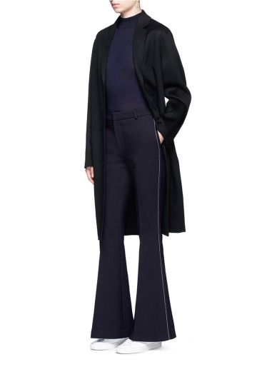 comme-moi-wool-blend-flared-pants