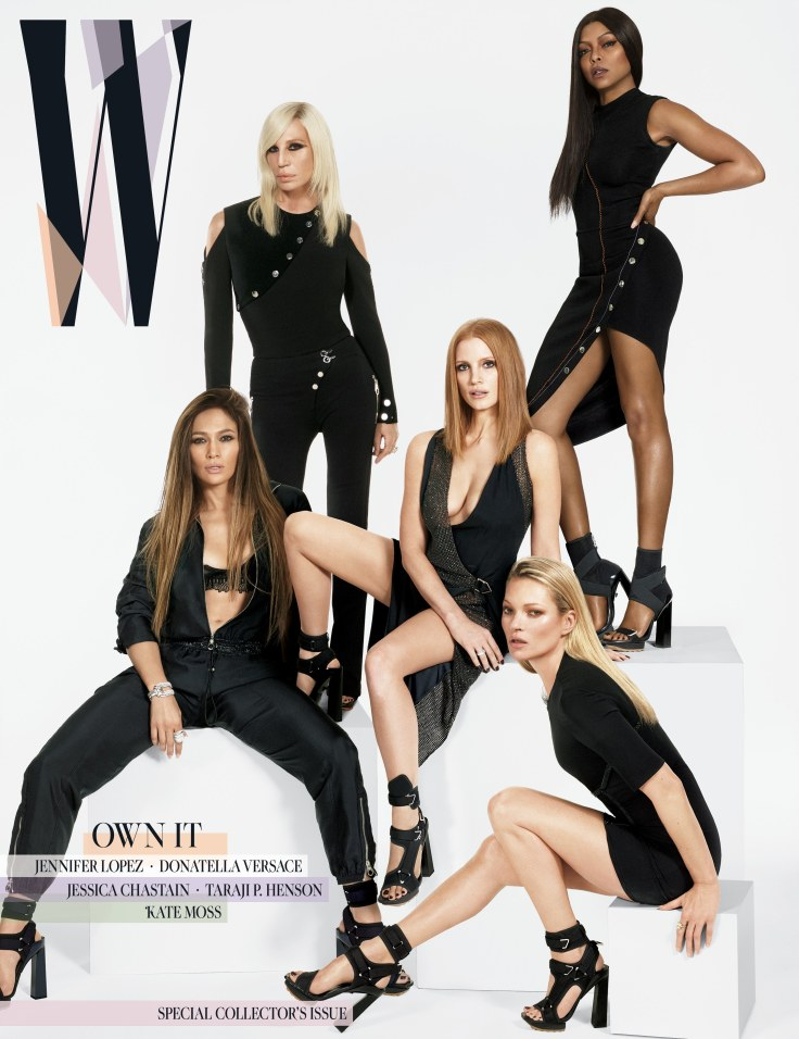 w-magazine-a-salute-to-5-powerful-women-jennifer-lopez-donatella-versace-kate-moss-taraji-p-henson-jessica-chastain