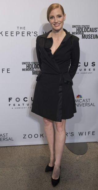Jessica Chastain in Carolina Herrera Spring 2017