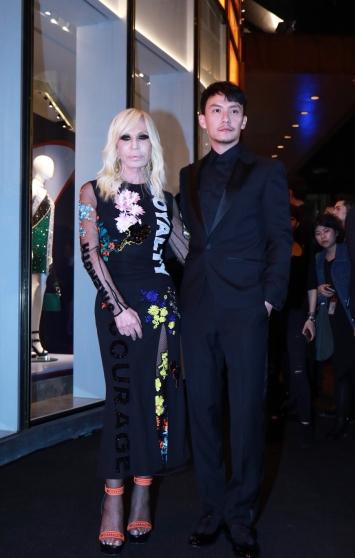 Chang Chen in Versace