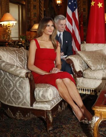 Melania Trump in Valentino Resort 2017-2
