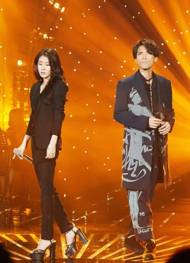 Zhang Bi Chen in Saint Laurent & Aska Yang in Yohji Yamamoto Spring 2017 Menswear
