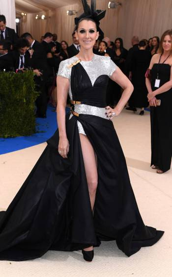 Celine Dion in Atelier Versace Fall 2014 Couture