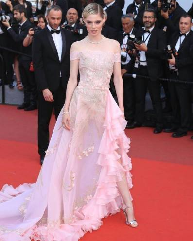 Coco Rocha in Georges Hobeika Spring 2017 Couture