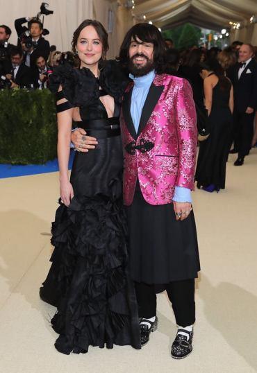 Dakota Johnson in Gucci with Alessandro Michele