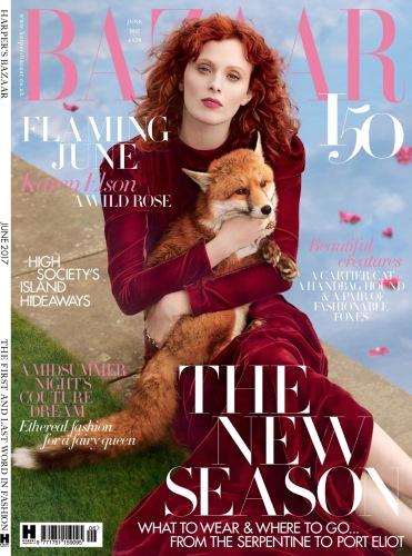Karen Elson Harper's Bazaar UK June 2017 Cover