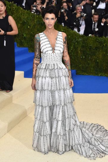 Ruby Rose in Burberry