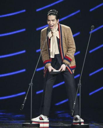 Jam Hsiao in Gucci