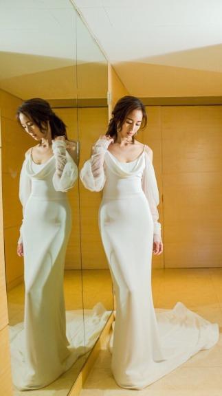Ning Chang in Vera Wang Bridal Fall 2017-2