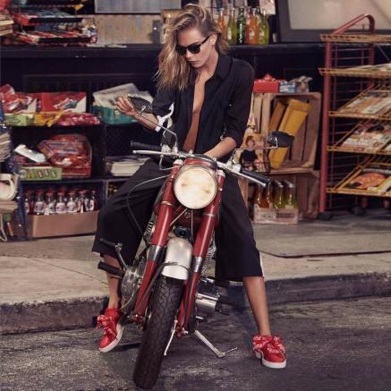 Cara Delevingne PUMA Fall 2017 Basket Heart Sneaker Campaign