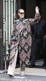 Celine Dion in Reem Acra Fall 2017