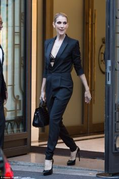 Celine Dion in Saint Laurent Spring 2014