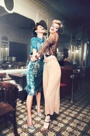 Emily DiDonato & Frida Aasen Elisabetta Franchi Fall 2017 Campaign-3