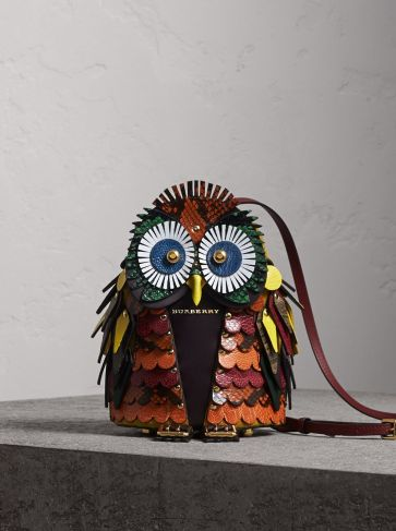 Burberry Calf Suede and Snakeskin Crossbody Bag-The Owl