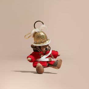 Burberry The Regimental Thomas Bear Charm-Camel