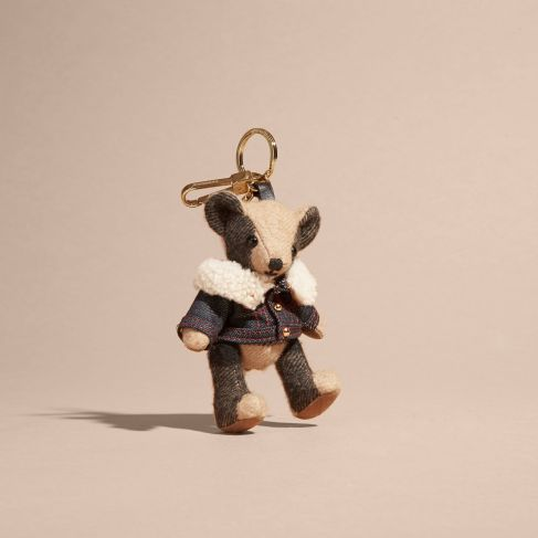 Burberry Thomas Bear Charm in Denim Jacket