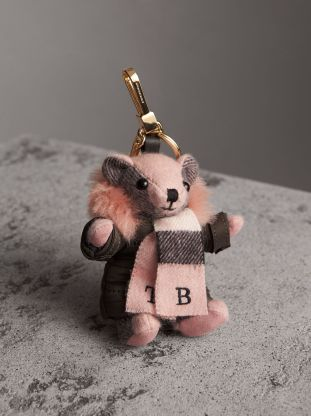 Burberry Thomas Bear Charm in Puffer Coat and Scarf