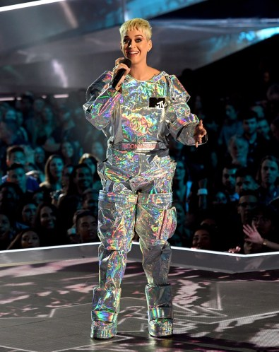 Katy Perry as MTV Video Music Awards Moonman Trophy